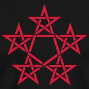 Pentagram, 5 Stars, Pentagon, Golden Ratio T-shirts - Premium-T-shirt herr