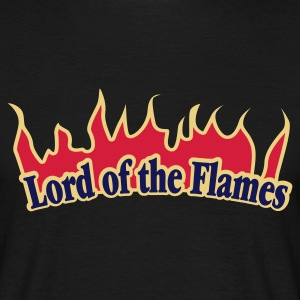 Schwarz Lord of the Flames © T-Shirts - Herre-T-shirt