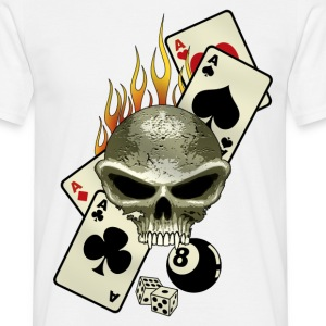 Blanc poker flaming T-shirts - T-shirt Homme