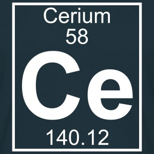Element 058 - Ce (cerium) - Full T-shirts - Herre-T-shirt