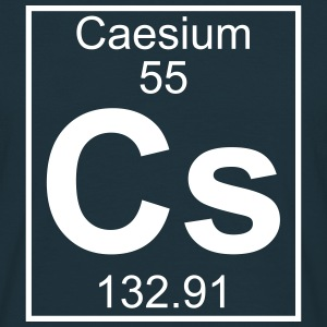 Element 055 - Cs (caesium) - Full T-shirts - Herre-T-shirt