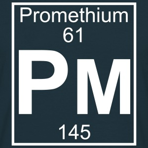Element 061 - Pm (promethium) - Full T-shirts - Herre-T-shirt