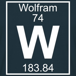 Element 074 - W (wolfram) - Full T-shirts - Herre-T-shirt