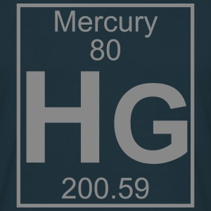 Element 080 - Hg (mercury) - Full T-shirts - Herre-T-shirt