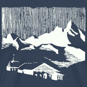 Vintage white mountain village alps T-Shirts - Men's Premium T-Shirt