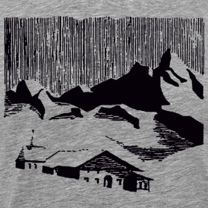 Vintage black mountain village  T-Shirts - Men's Premium T-Shirt