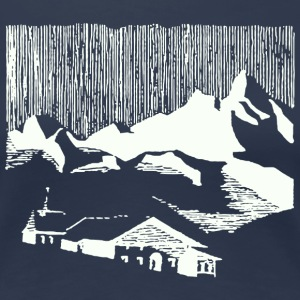 Vintage white mountain village alps T-Shirts - Women's Premium T-Shirt