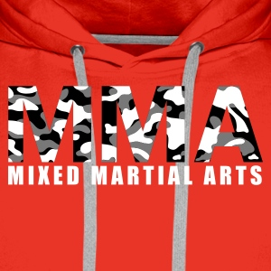 Rot MMA Camouflage 3farbig Pullover - Männer Premium Hoodie
