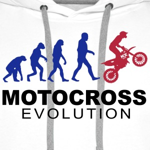 Motocross Evolution Sweat-shirts - Sweat-shirt à capuche Premium pour hommes