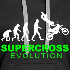 Supercross Evolution Sweat-shirts - Sweat-shirt à capuche Premium pour femmes