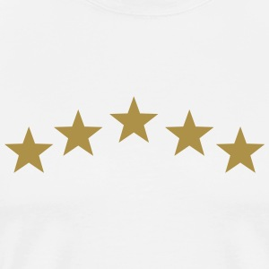 Five Stars, winner, hero, best, 5, golden, award T-Shirts - Men's Premium T-Shirt