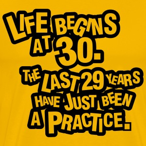 Life begins at 30. The rest was just a practice T-skjorter - Premium T-skjorte for menn