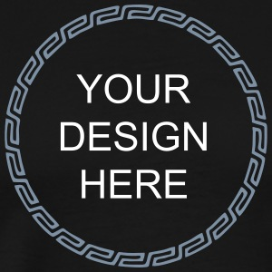 Frame, Mayan style, your design, text, Celtic T-shirts - Herre premium T-shirt