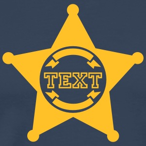 Sheriff Star, your text, Old West, Wild, America, T-shirts - Herre premium T-shirt