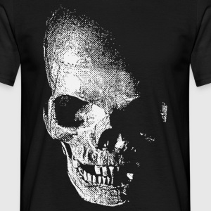 Black white skull - weißer totenkopf pirat Men's Tees - Men's T-Shirt