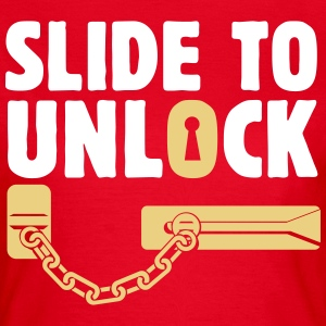 slide to unlock door chain  T-Shirts - Women's T-Shirt