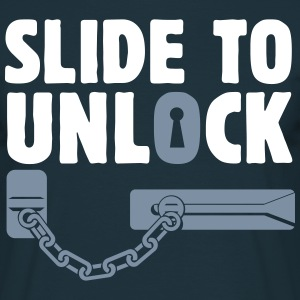 slide to unlock door chain  T-Shirts - Men's T-Shirt
