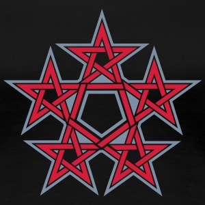 Pentagram, 5 Stars, Pentagon, Golden Ratio T-shirts - Premium-T-shirt dam