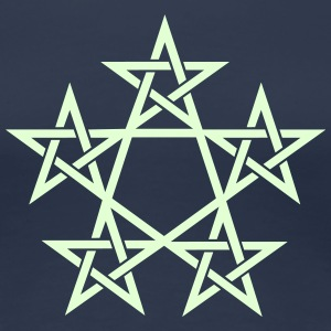 Pentagram, Glow in the dark, 5 Stars, Magic T-Shirts - Women's Premium T-Shirt