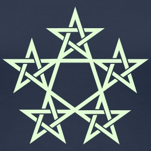 Pentagram, Glow in the dark, 5 Stars, Magic T-shirts - Vrouwen Premium T-shirt