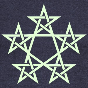 Pentagram, Glow in the dark, 5 Stars, Magic Sweaters - Vrouwen trui met U-hals van Bella