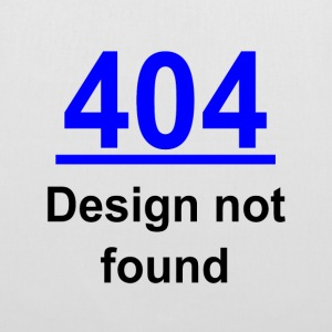 404 design not found Bags & backpacks - Tote Bag