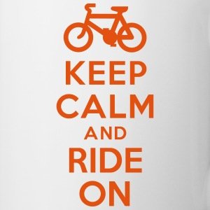 Keep calm and ride on bike Bouteilles et tasses - Tasse