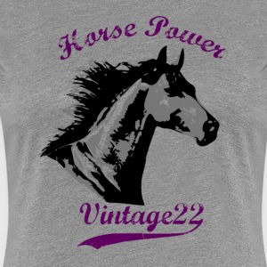 Horse Power Design T-shirts - Dame premium T-shirt