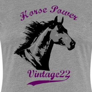 Horse Power Design T-shirts - Vrouwen Premium T-shirt