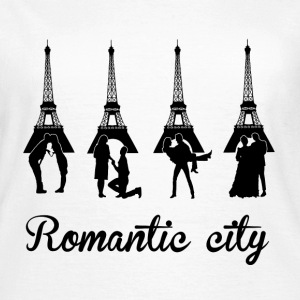 Romantic City black T-Shirts - Frauen T-Shirt