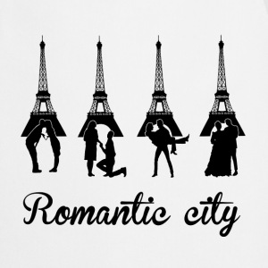 Romantic City black  Aprons - Cooking Apron