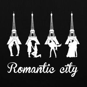 Romantic City white Bags & backpacks - Tote Bag