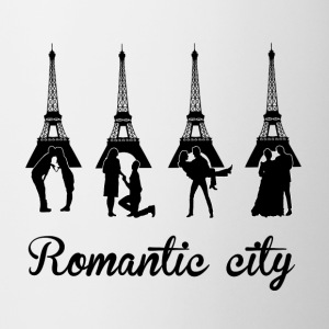 Romantic City black Bottiglie e tazze - Tazza