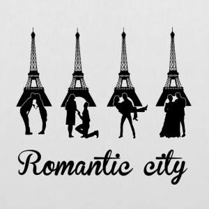 Romantic City black Bags & backpacks - Tote Bag