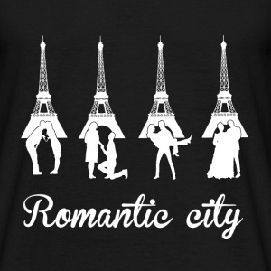 Romantic City white T-Shirts - Männer T-Shirt