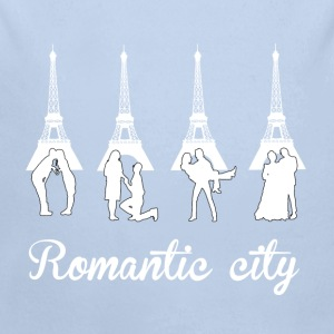 Romantic City white Sweaters - Baby bio-rompertje met lange mouwen