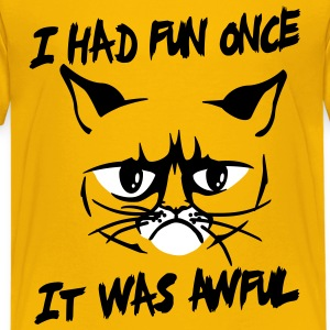 I had fun once, it was awful T-shirts - Premium-T-shirt tonåring