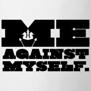Me Against Myself Flaschen & Tassen - Tasse