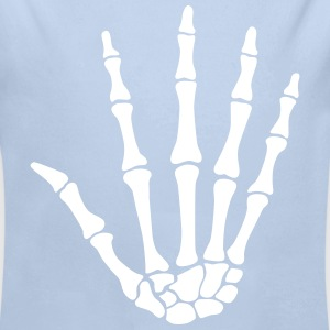 skull hand - knochen hand Sweats - Body bébé bio manches longues