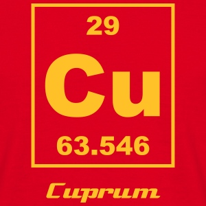 Element 29 - Cu (cuprum) - Small T-shirts - Mannen T-shirt