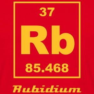 Element 37 - Rb (rubidium) - Small T-shirts - Herre-T-shirt