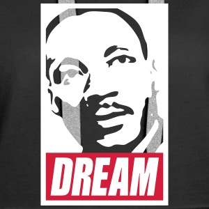 Obey x Dream MLK 2c_noir Sweat-shirts - Sweat-shirt à capuche Premium pour femmes