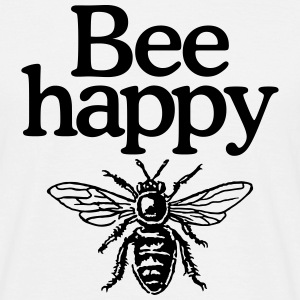 Bee happy T-shirts - Mannen T-shirt