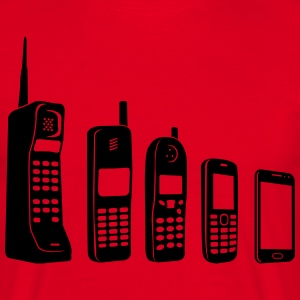 Mobile Evolution  T-shirts - Herre-T-shirt
