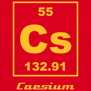 Element 55 - Cs (caesium) - Small T-shirts - Mannen T-shirt