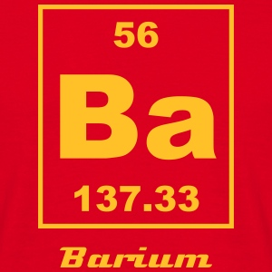 Element 56 - Ba (barium) - Small T-skjorter - T-skjorte for menn