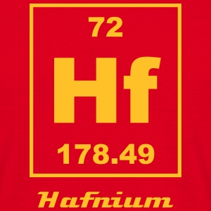Element 72 - hf (hafnium) - Small Camisetas - Camiseta hombre