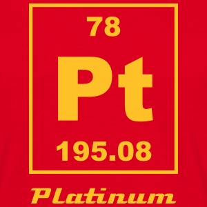 Platinum (Pt) (element 78) - Men's T-Shirt