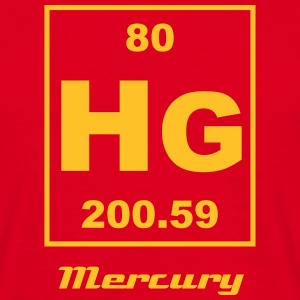 Mercury (Hg) (element 80) - Men's T-Shirt