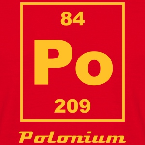 Element 84 - po (polonium) - Small Camisetas - Camiseta hombre